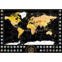Скретч мапа світу чорна на англійскій мові