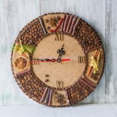 Часы из зерен кофе и специй для кухни
