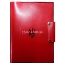 Папка для документов герб Украины красная