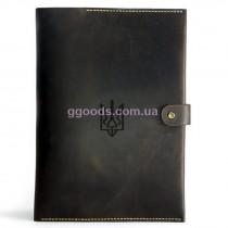 Папка для документов с государственной символикой коричневая