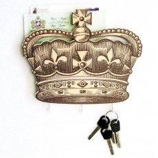 Ключница настенная деревянная Корона