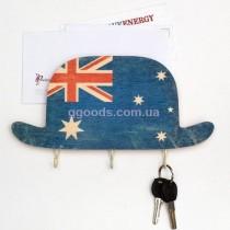 Ключница настенная шляпа Австралия