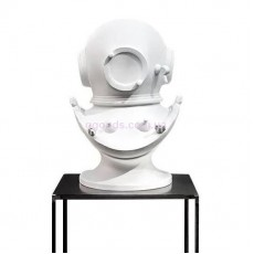 Скульптура бюст Шлем водолаза белый