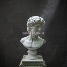 Статуэтка бюст Царя Давида белая