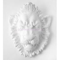 Настенный декор Лев белый