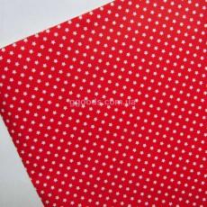 Бумага для упаковки подарков красная Звезды 10 м