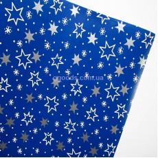 Упаковочная бумага Звезды на синем 10 м