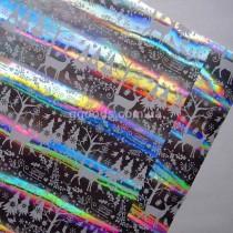 Упаковочная бумага Серебристая металлизированная 10 м