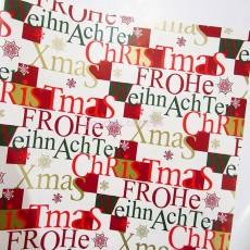 Бумага для подарков Новогодние послания 10 м