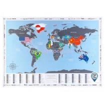 Скретч карта мира Flags Edition - готовый упакованный подарок!