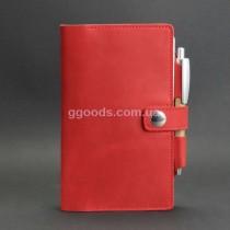 Софтбук в кожаной обложке Коралл красный 4.0