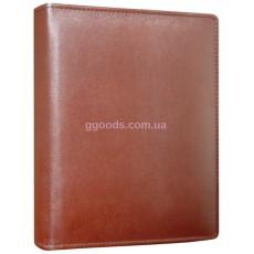 Кожаный ежедневник А4 Лидер светло-коричневый
