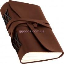 Блокнот коричневый В6 линованные листы