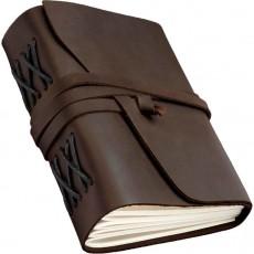 Записная книжка темно-коричневая B6 линованные листы