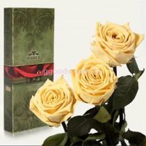 Долгосвежие розы Желтый топаз 7 карат 3 шт