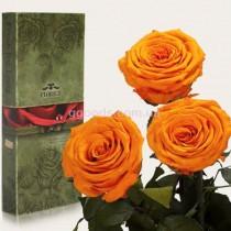 Долгосвежие розы Оранжевый цитрин 7 карат 3 шт