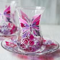 Армуды для чая Бабочки 2 шт