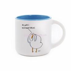 Чашка с Гусьом Мудакі blue