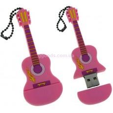 Флешка Гитара розовая 8 Гб, 16 Гб, 32 ГБ