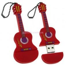 Флешка Гитара красный/фиолетовый