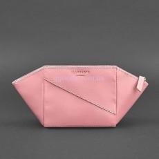 Косметичка кожаная розовая Krast