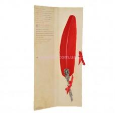 Перо для письма с изображением дракона красное Dallaiti