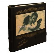 Кожаный фотоальбом Ангелочки