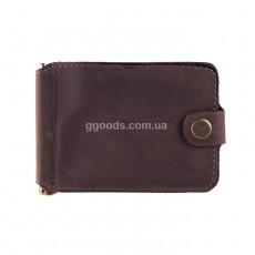 Зажим коричневого цвета с отделением для монет