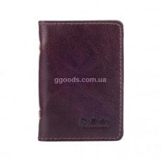 Обложка-органайзер для ID паспорта и карт коричневого цвета