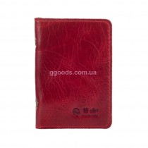 Обложка-органайзер для ID паспорта и карт красная