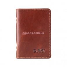 Обложка-органайзер для ID паспорта и карт коньяк