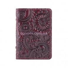 Обложка-органайзер для ID паспорта Mehendi Art фиолетовая