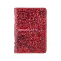 Обложка-органайзер для ID паспорта Mehendi Art красная