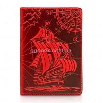 """Обложка для паспорта """"Discoveries"""" красная"""