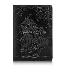 """Обложка для паспорта """"Discoveries"""" черная"""