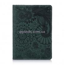 """Обложка для паспорта """"Mehendi Art"""" зеленая"""