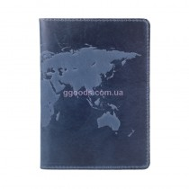 """Обложка для паспорта """"World Map"""" голубая"""