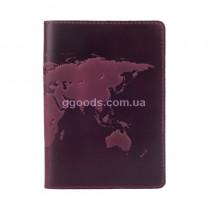 """Обложка для паспорта """"World Map"""" фиолетовая"""