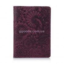 """Обложка для паспорта """"Mehendi Art"""" фиолетовая"""