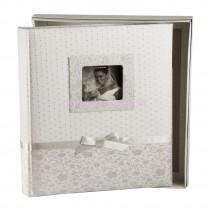 Фотоальбом Silvia Silver 100 страниц бордового цвета