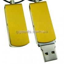 Флешка железная желтая