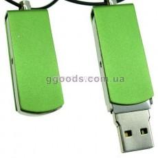 Флешка железная зеленая