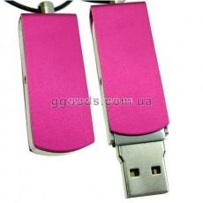 Флешка железная розовая