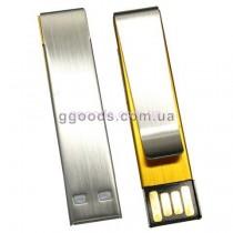 Флешка Зажим для галстука золотистый