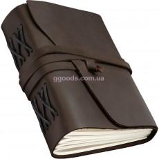 Блокнот А5 темно-коричневый чистые листы Comfy strap