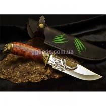 Нож Хищник с коричневой рукоятью