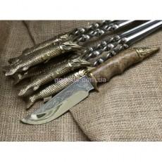Набор шампуров в колчане Царский улов с ножом