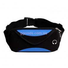 Спортивный чехол для телефона на пояс черно-синий