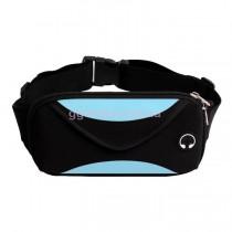 Поясная сумка для бега черно-голубая