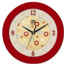 Часы №9 красные